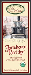 farmhouse porridge hot cereal label