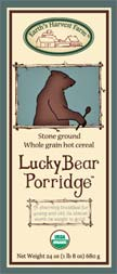 lucky bear porridge hot cereal label