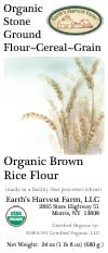 organic brown rice flour label