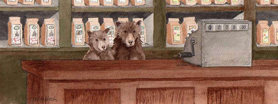 porridge shop with bears