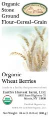 organic wheat berry label