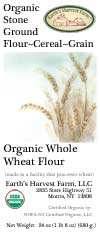 organic wheat flour label